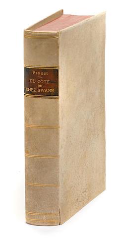 PROUST, MARCEL. 1871-1922. A la recherche du temps perdu: Du côté de chez Swann. Paris: Bernard Grasset, [1913].