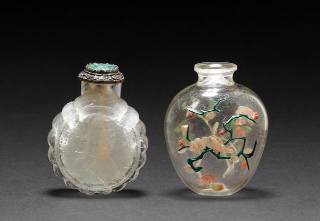 Two rock crystal snuff bottles 1840-1920