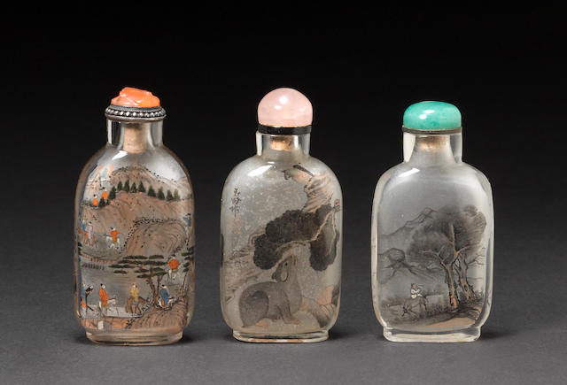 Three inside painted snuff bottles