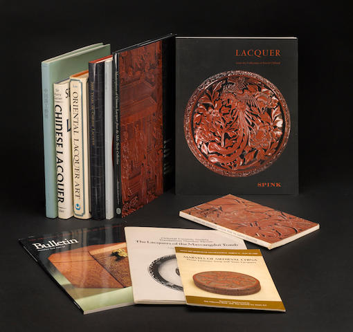 A selection of books and catalogues on Chinese lacquer