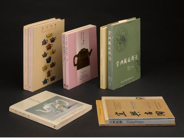 A selection of books on Yixing wares