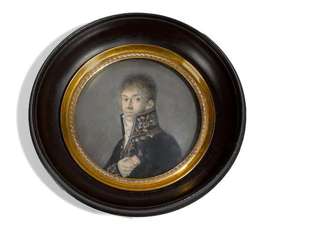 French School <BR />A portrait miniature of a gentleman  <BR />early 19th century