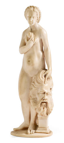 A Continental carved ivory figure of Judith <BR />late 19th century