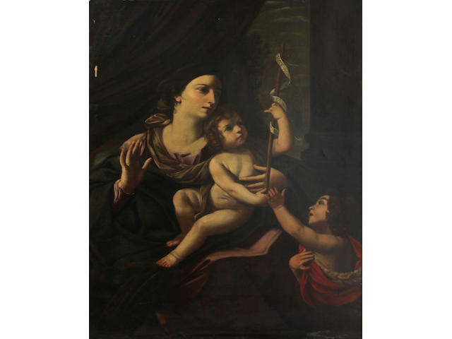 Italian School, 18th Century The Madonna and Child 54 x 40in