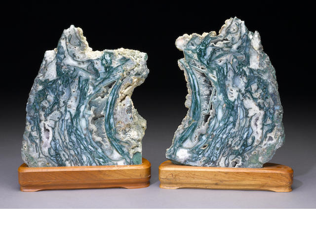Blue Agate Geode Split