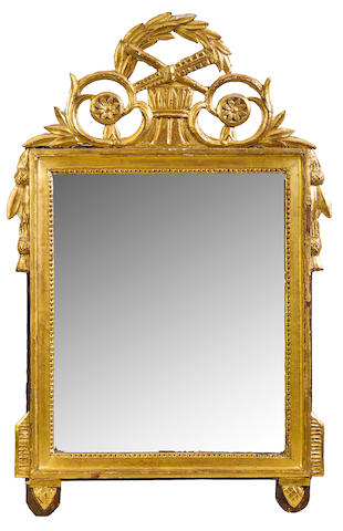 A Louis XVI giltwood mirror <BR /> fourth quarter 18th century