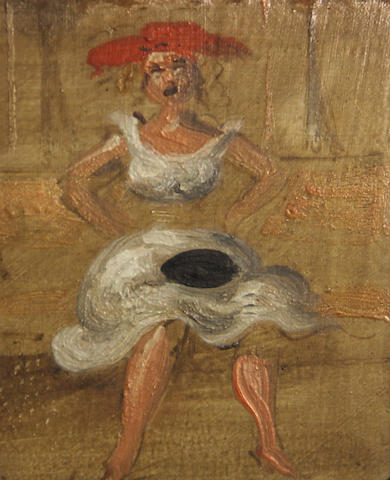 Reginald Marsh, Seated woman in subway
