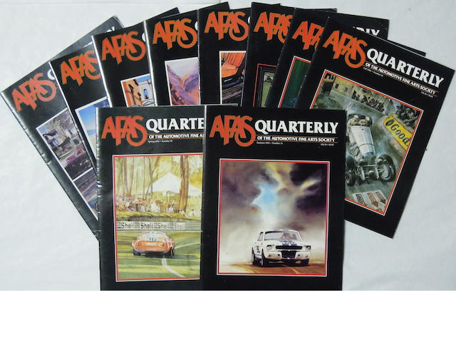 A collection of Automotive Fine Arts Society Quarterly magazine,