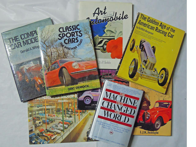 A quantity of Auto books,
