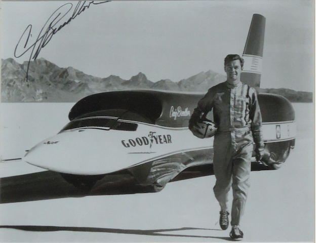 A signed photograph of Craig Breedlove,