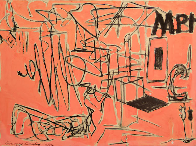 George Condo (American, born 1957) Untitled, 1982 22 1/4 x 30in unframed