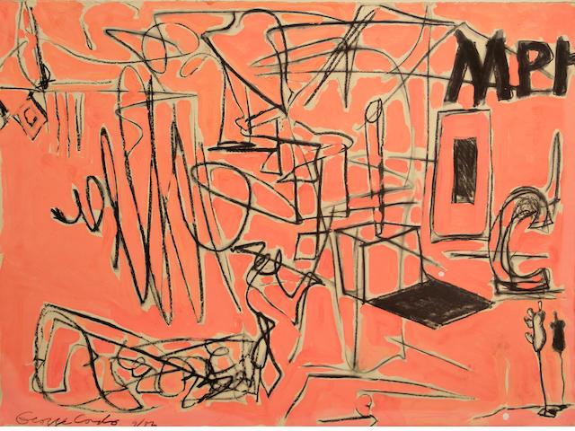 George Condo (American, born 1957) Untitled, 1982 22 1/4 x 30in unframed