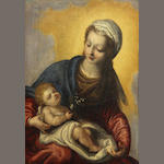 Italian School, SENDING TO BK The Madonna and Christ Child 11 3/4 x 8 1/4in