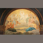 Continental School, 19th Century A celestial concert 18 1/4 x 29in