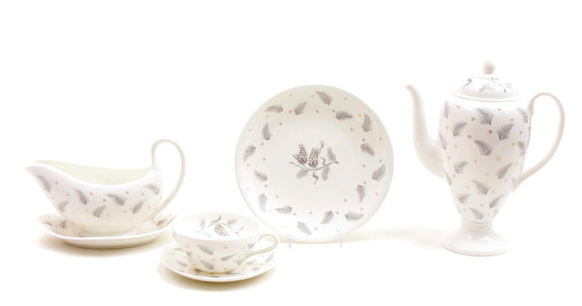 A Wedgwood bone china part dinner service in the Pinehurst pattern