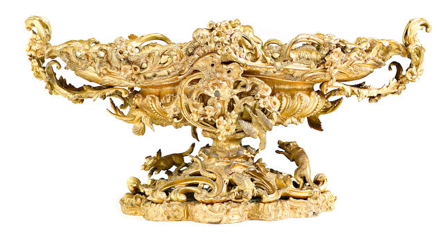 A French gilt bronze centerpiece  late 19th century
