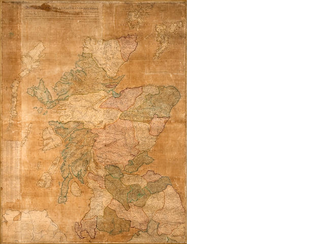 Wall Maps - Scotland. Dorret, James. A General Map of Scotland and Islands thereto belonging from new surveys London: [1750].