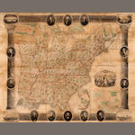 Wall Map - United States. Chapin, William. Chapin's Ornamental map of the United States, with the new Western Possessions. New York: Horace Thrayer and Co, 1853