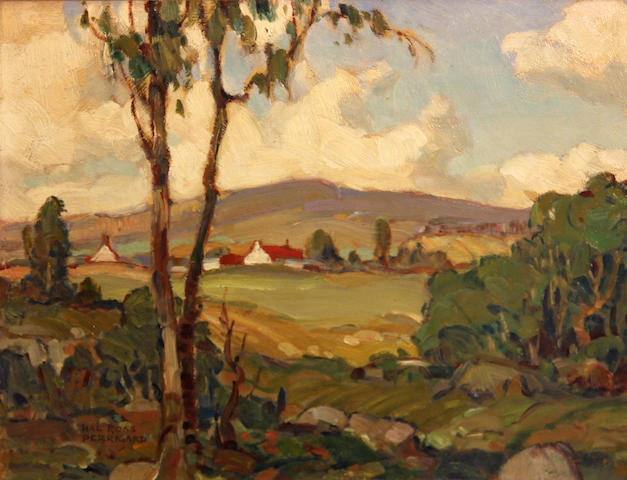 Hal Ross Perrigard, A.R.C.A (Canadian, 1891-1960) Pastoral Quebec 9 x 12in