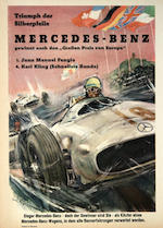 Anonymous; A pair of Mercedes-Benz Race Posters; (2)