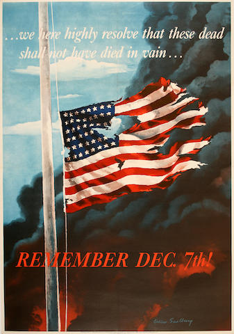Allen Saalburg (American, 20th century) Remember Dec. 7th!;