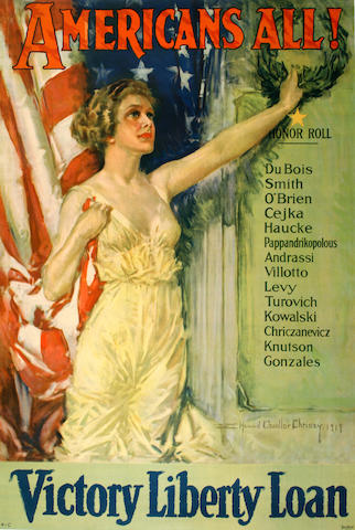 Howard Chandler Christy (American, 1872-1952); Americans All! Victory liberty Loan;