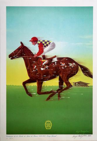 Luigi Castiglioni (Italian, 20th century); Race Horse;