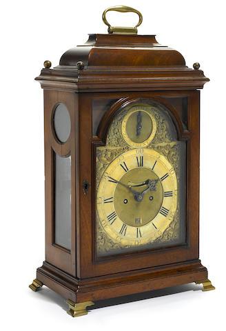 A George III mahogany bracket clock  Joseph Jennings, London fourth quarter 18th century