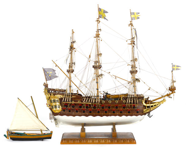 A model of the Swedish warship:  Wasa 1628