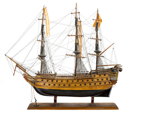 A model of the Spanish warship: San Juan de Nepomuceno