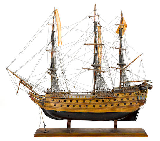A model of the Spanish warship: San Juan de Nepomuceno