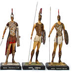 A group of six Greek & Roman military figures
