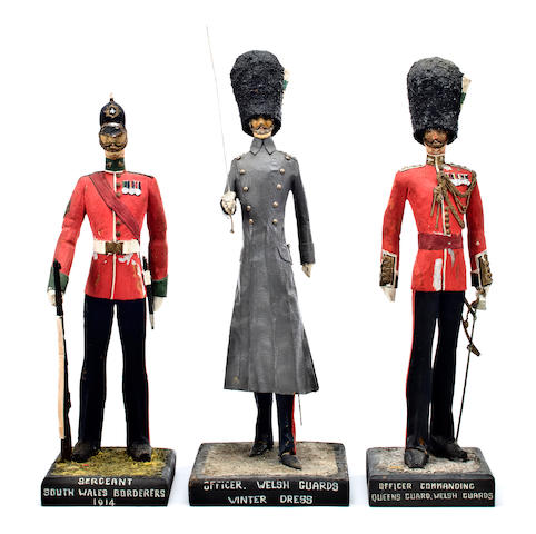 A group of Welsh military figures  14 in. (35.5 cm.) the tallest. 3