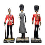 A set of three Welsh military figures