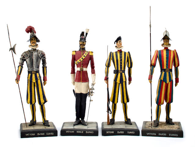 A group of Four Vatican Guard