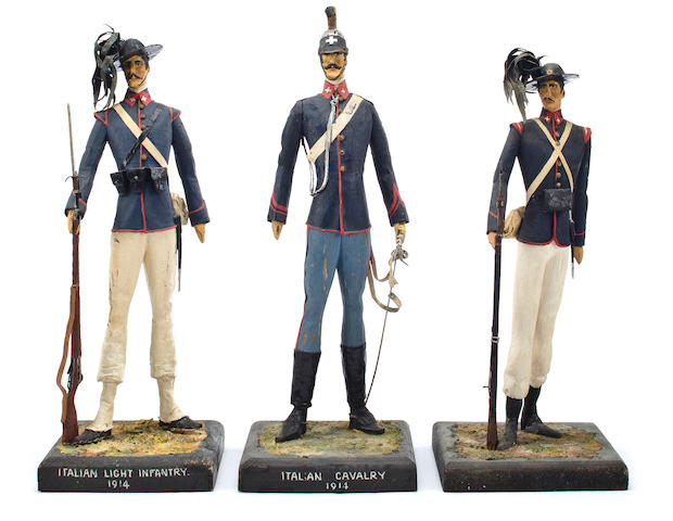 A group of Italian Military figures 13 in. (33 cm.) the tlallest. 3