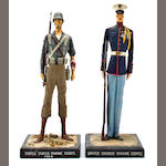 A pair of WW II U.S. Marine figures