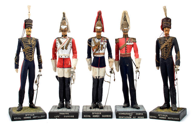 A group of five British Calvary figures