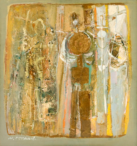 Marilyn Conrad (American, born 1923) Three Saints 15 x 14 1/2in (38 x 36.8cm)