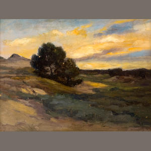 Parke Custis Dougherty (American, born 1867) Landscape with dunes 10 1/2 x 13 3/4in (26.5 x 35cm)