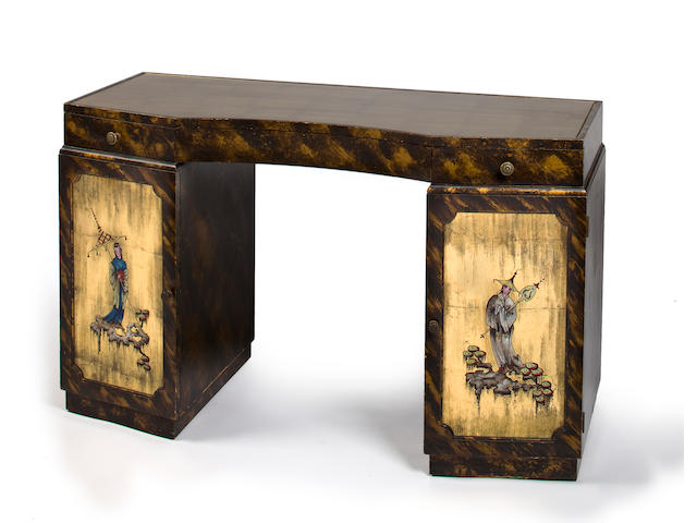 A Grosfeld House lacquered and gilded-wood desk 1940s