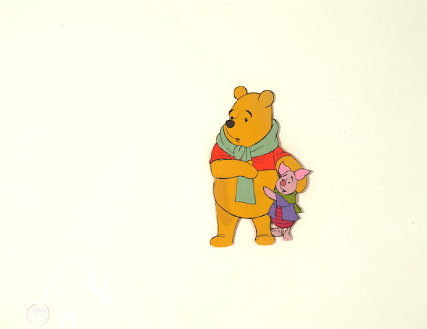 A Walt Disney celluloid from The Many Adventures of Winnie the Pooh
