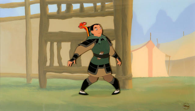 A Walt Disney celluloid from Mulan