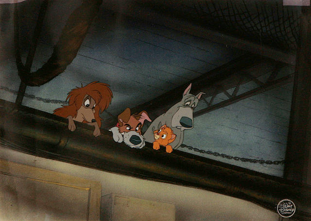 A Walt Disney celluloid from Oliver & Company