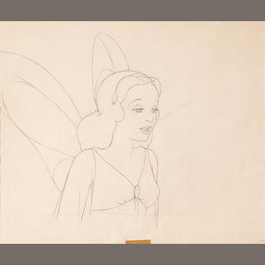 A Walt Disney animation drawing from Pinocchio