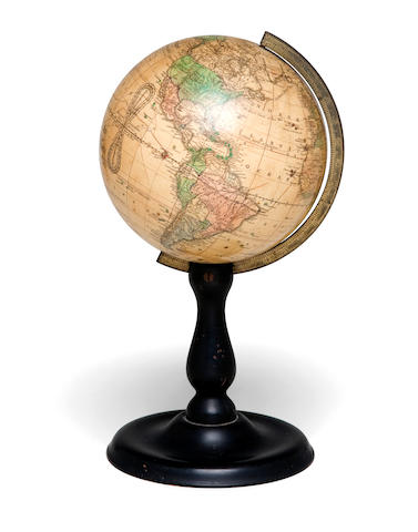 A Joslin's 6-inch Table Globe  12 x 6-1/2 in. (30.4 x 16.5 cm.)