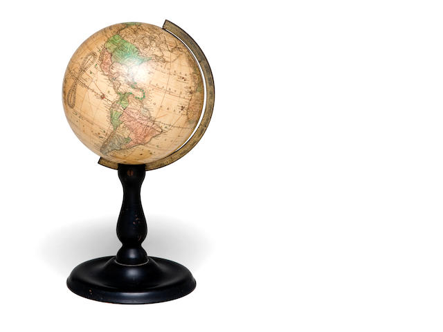 A Joslin's 6-inch Table Globe<BR /> late 19th Century  12 x 6-1/2 in. (30.4 x 16.5 cm.)