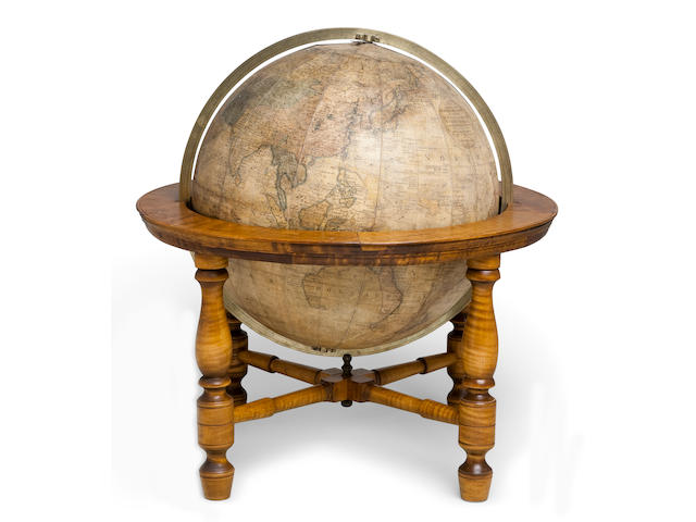 13-inch table globe  [Albany, NY], 1817 19 in (48 cm.) overall height