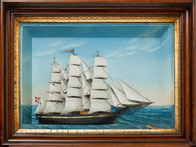 Shadow Box with Ship