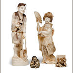 A group of four ivory carvings